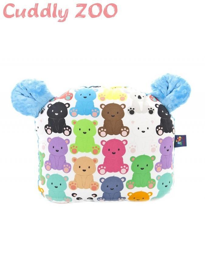 Detský vankúšik Cuddly Zoo Medvedíci svetlomodrý