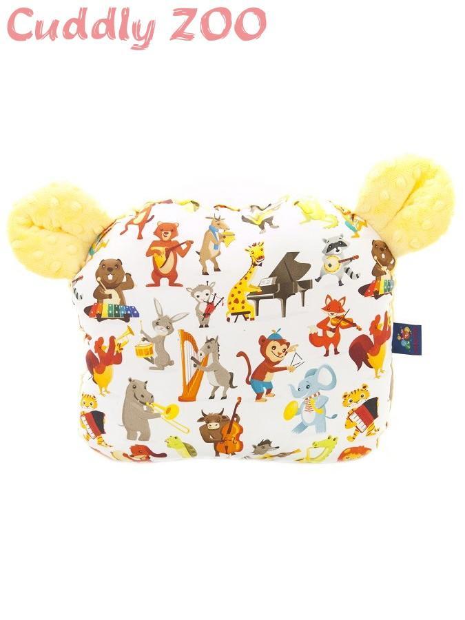 Detský vankúšik Cuddly Zoo Orchester žltý