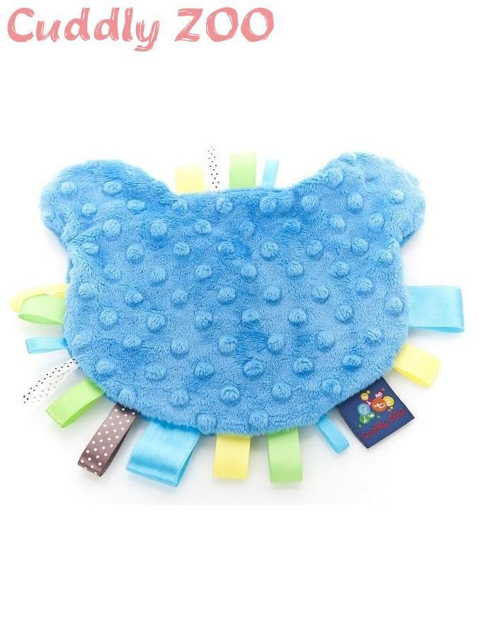 Látkové hryzátko z Minky Cuddly Zoo Macko modré