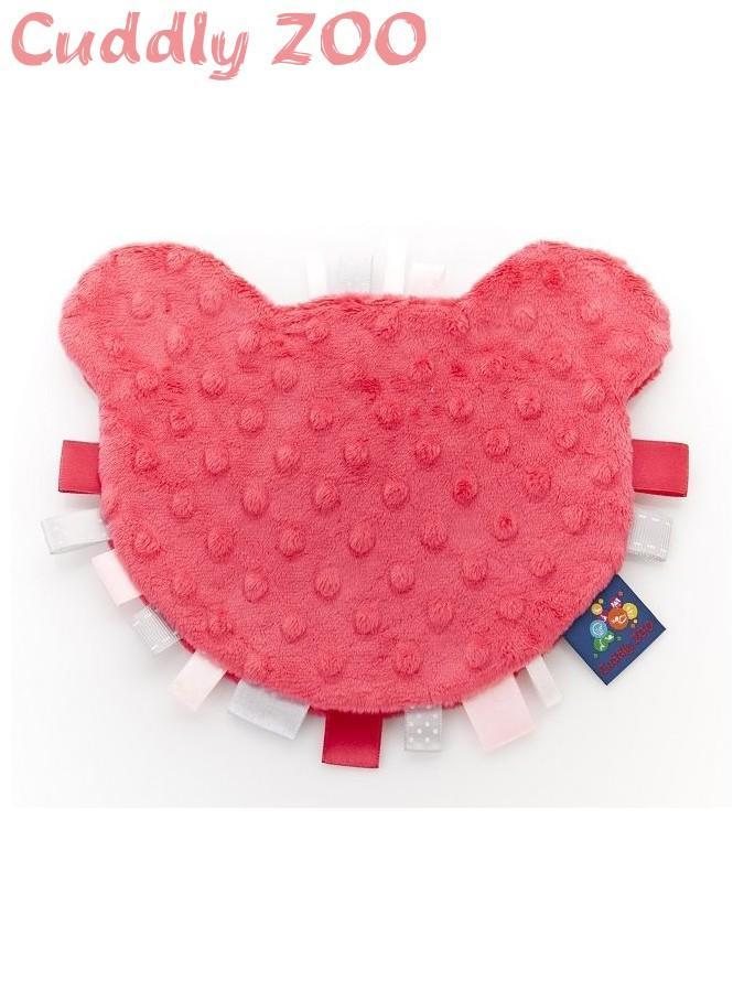 Látkové hryzátko z Minky Cuddly Zoo Medvedík svetločervené