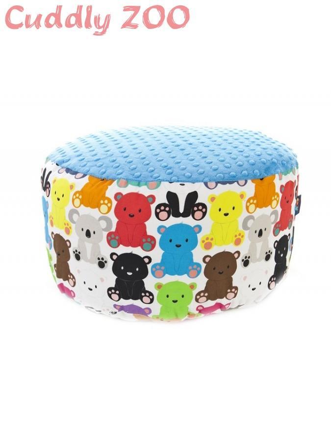 Detský taburet Cuddly Zoo Macko svetlomodrý