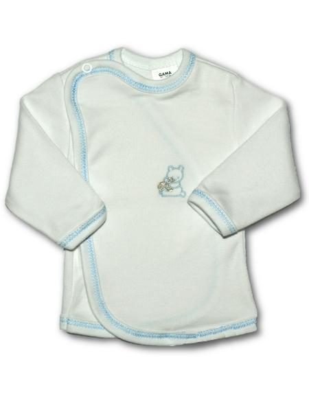 Dojčenská košieľka s vyšívaným obrázkom New Baby modrá