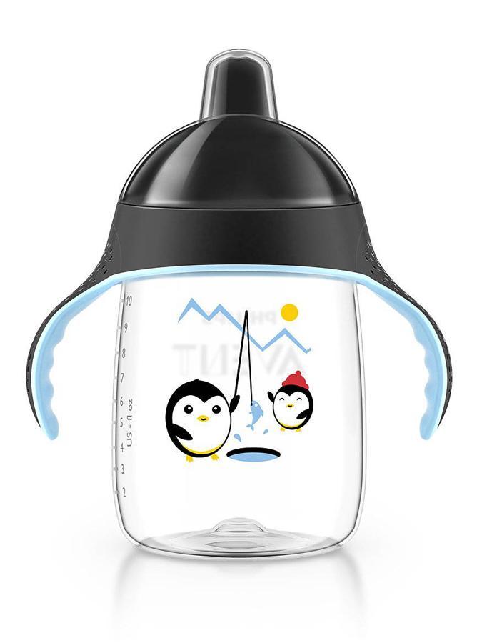 Kúzelný hrnček Avent Pingu 340 ml čierny