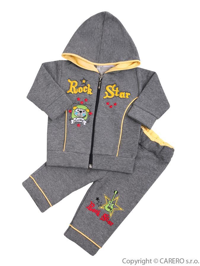 2-dielna súprava Koala RockStar sivo-žltá