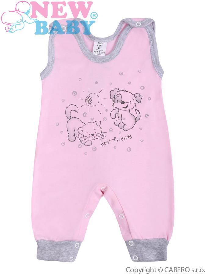 Dojčenské dupačky New Baby Kamaráti ružové