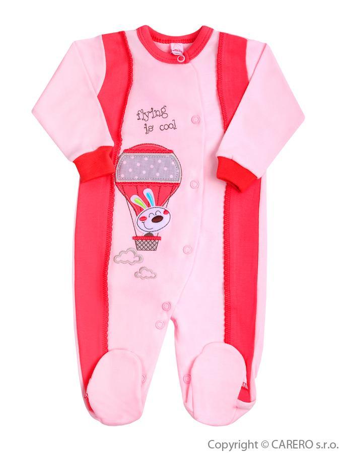 Dojčenský overal Bobas Fashion Happy Balloon koralový