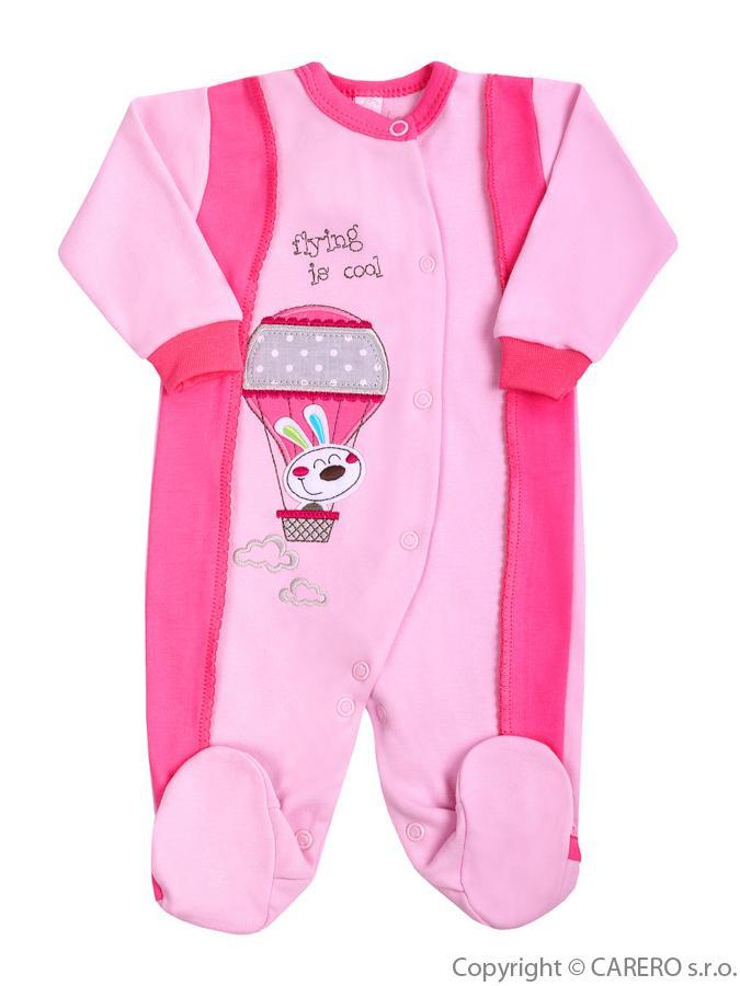 Dojčenský overal Bobas Fashion Happy Balloon ružový