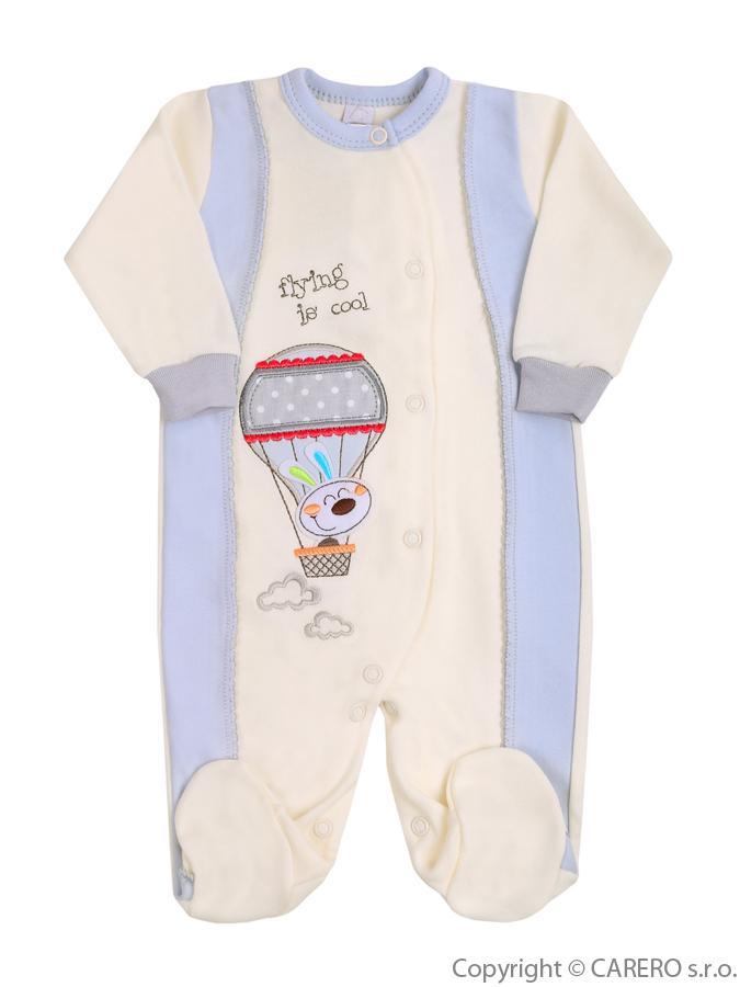 Dojčenský overal Bobas Fashion Happy Balloon sivý