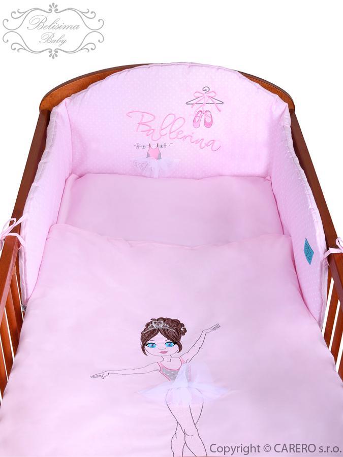 5-dielne posteľné obliečky Belisima Baletka 100/135 ružové