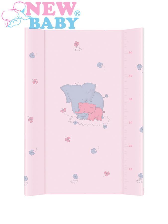 Prebaľovacia podložka New Baby Sloník ružová 80x50