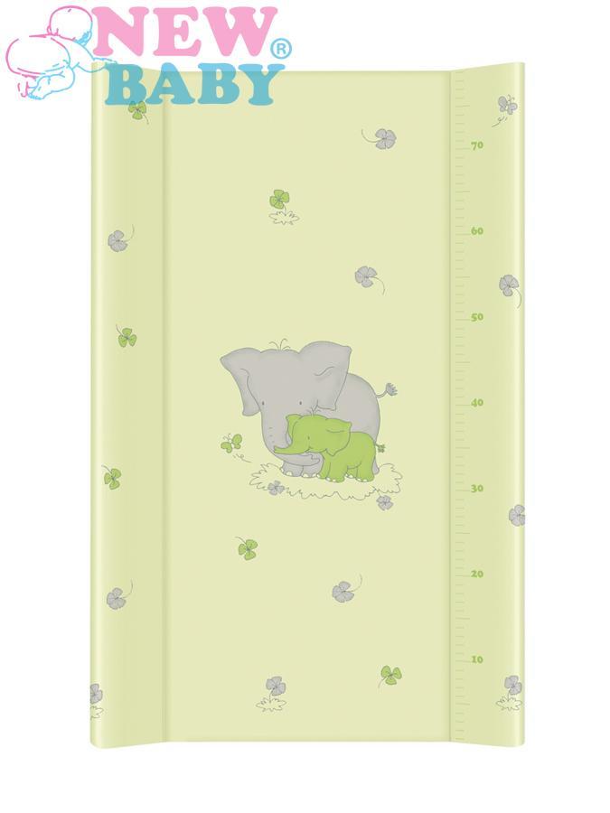 Prebaľovacia podložka New Baby Sloník zelená 80x50