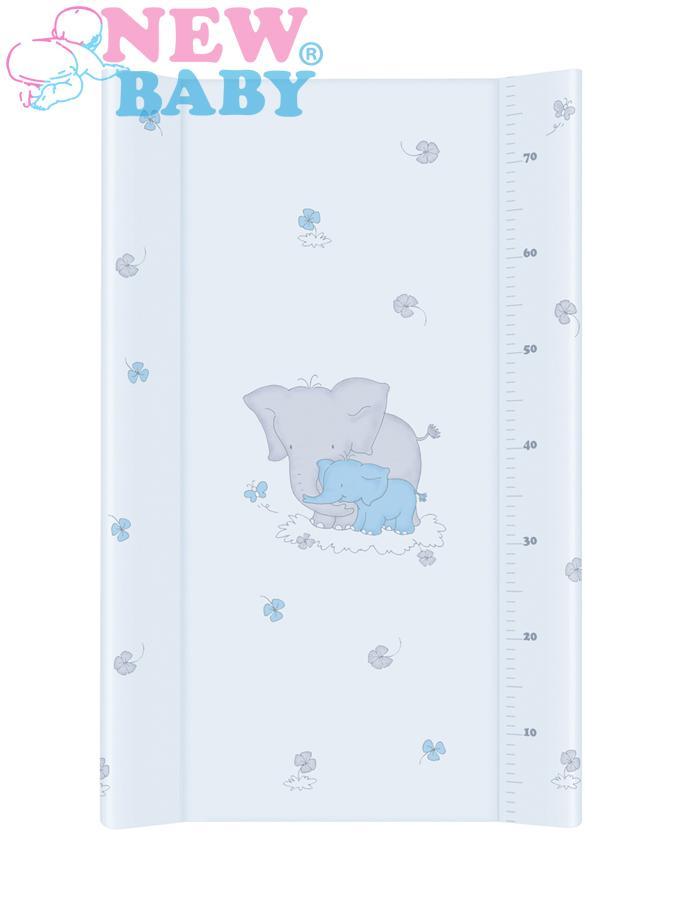 Prebaľovacia podložka New Baby Sloník modrá 70x50