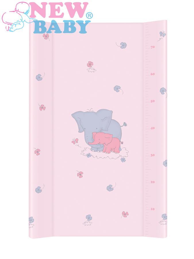 Prebaľovacia podložka New Baby Sloník ružová 70x50