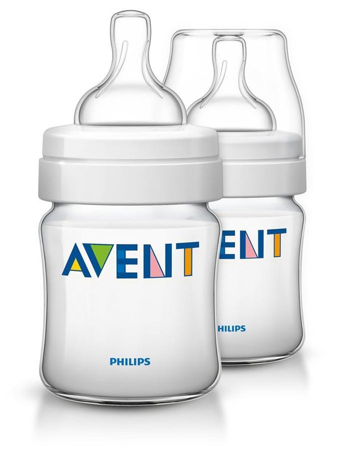 Dojčenská fľaša Avent Classic + 125 ml - 2ks