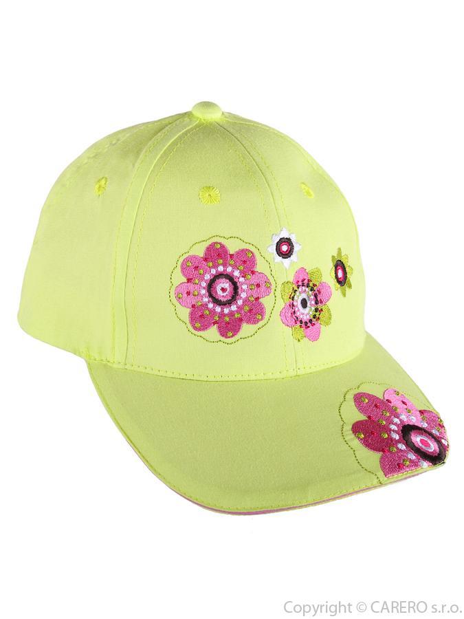Letná detská šiltovka Blumen zelená