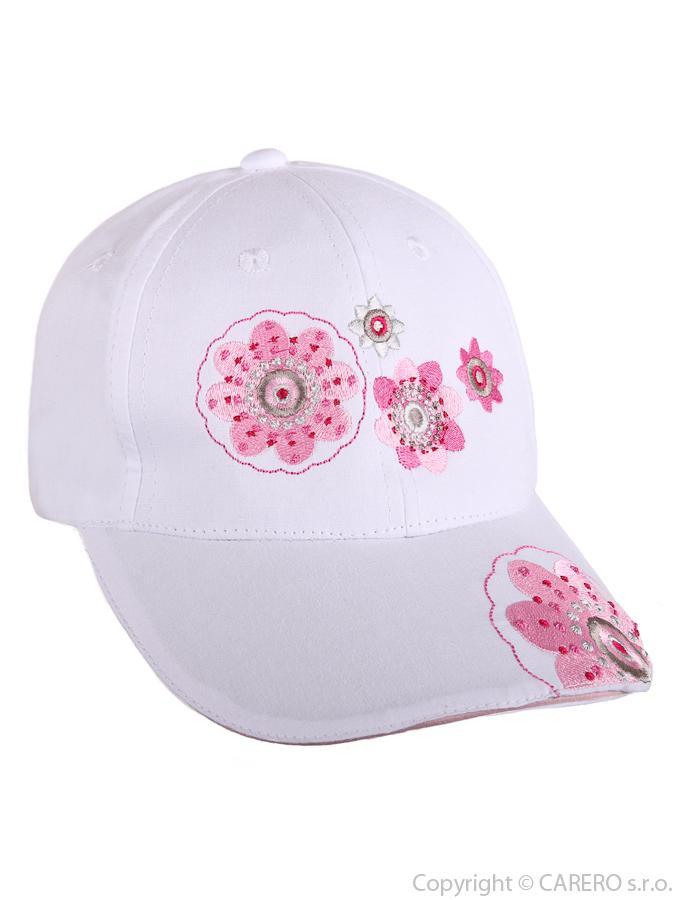 Letná detská šiltovka Blumen biela