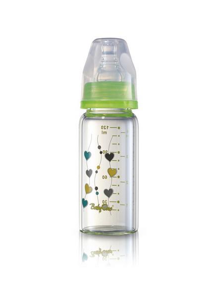 Sklenená dojčenská fľaša Baby Ono zelená