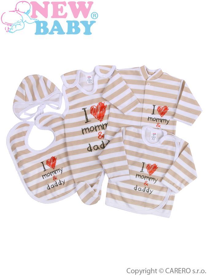 5-dielna kojenecká súprava New Baby Mommy and daddy