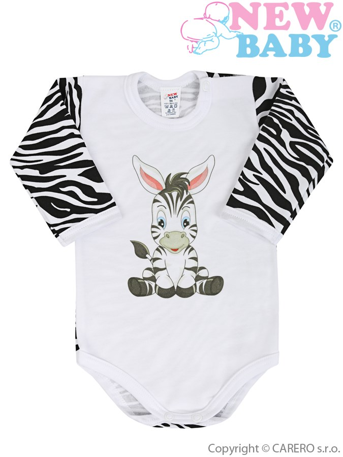 <p>Dojčenské body s dlhým rukávom New Baby Zebra</p>