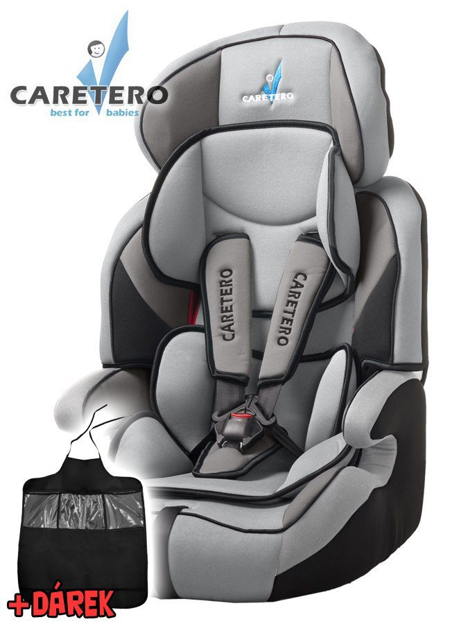 Autosedačka CARETERO Falcon Light grey 2016 + darček