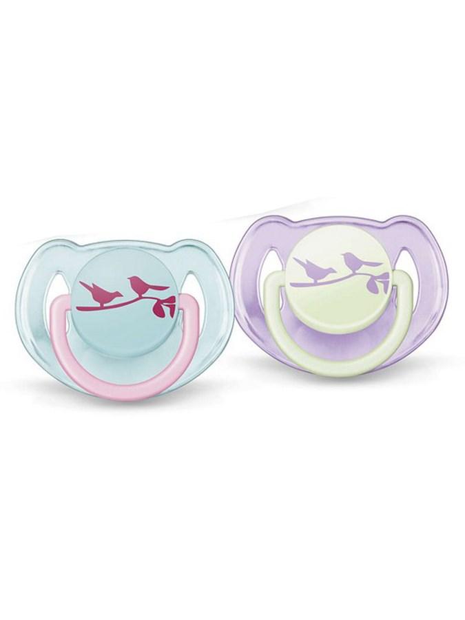 Dojčenský cumlík Avent 6-18 mesiacov - 2 ks vtáčiky