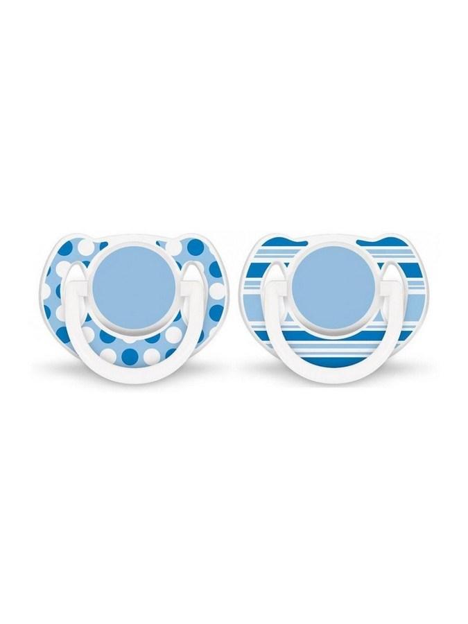 Dojčenský cumlík Avent 6-18 mesiacov - 2ks modrý