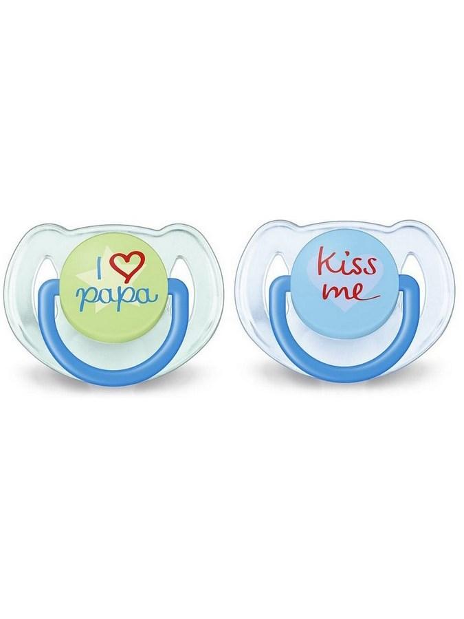 Dojčenský cumlík Avent 6-18 mesiacov - 2ks modro-zelený