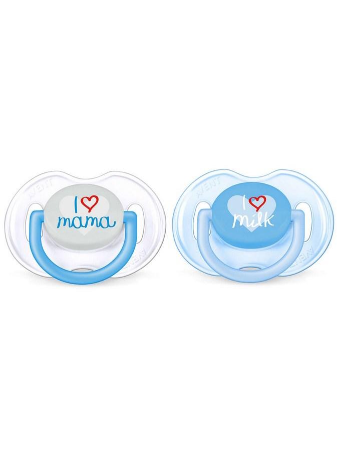Dojčenský cumlík Avent 0-6 mesiacov - 2ks modrý