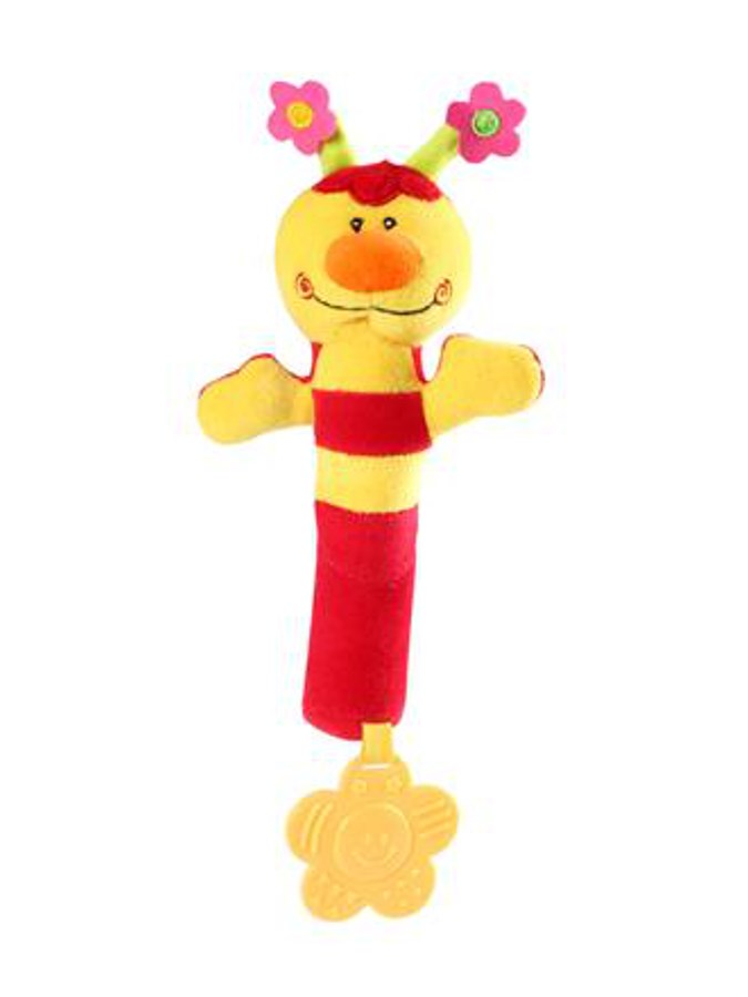 Plyšová pískací hračka s kousátkem Baby Ono beruška červená