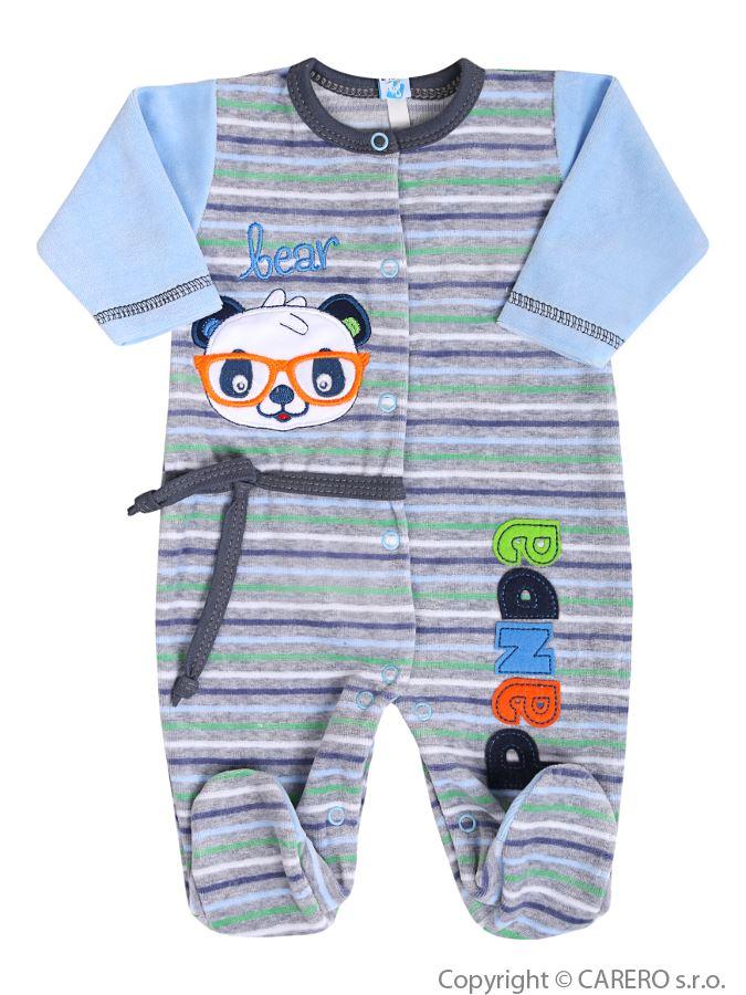 Dojčenský overal Koala Panda modrý