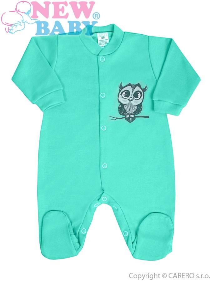 Dojčenský overal New Baby Sovička zelený