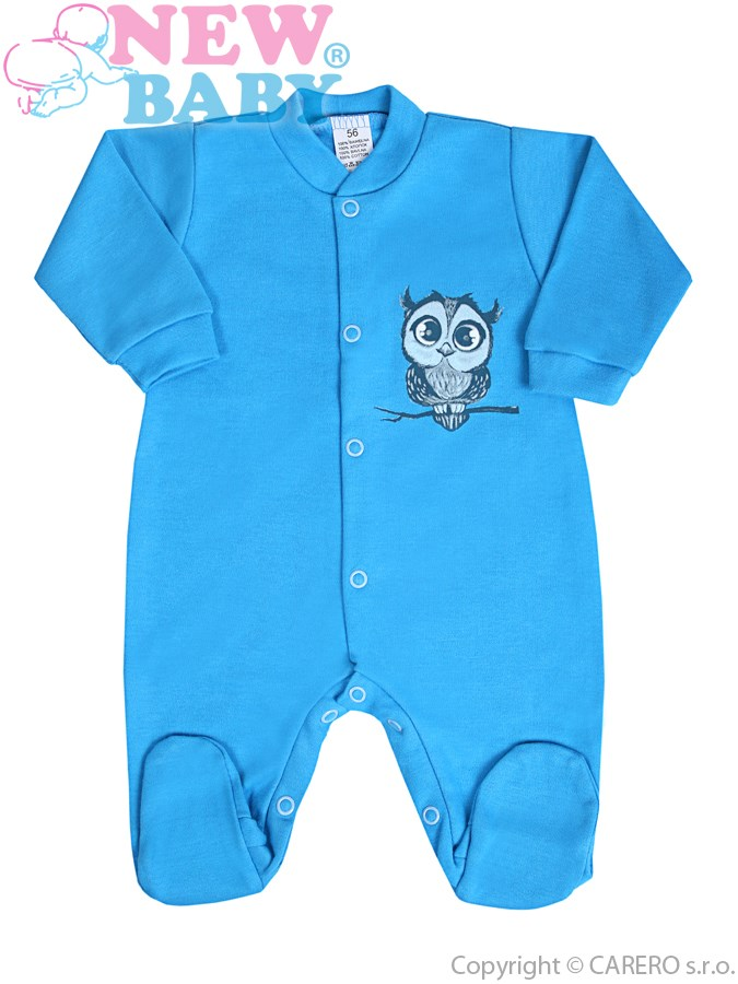 Dojčenský overal New Baby Sovička modrý