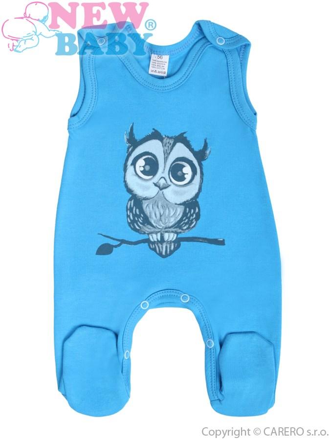Dojčenské dupačky New Baby Sovička modré