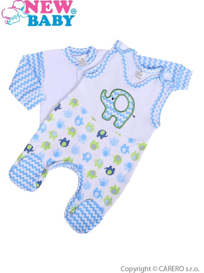 2-dielna súpravička New Baby Sloník bielo-modrá