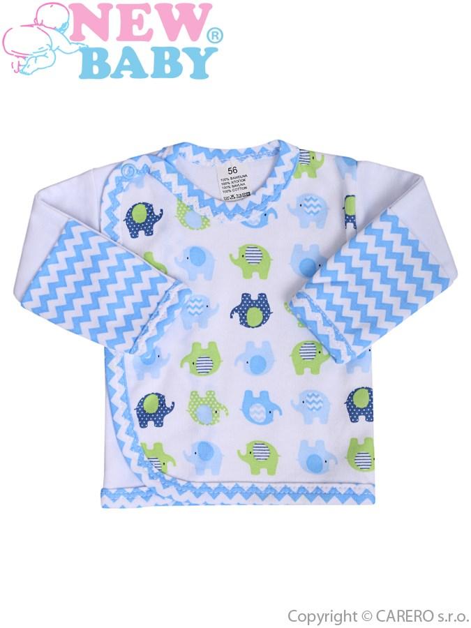 Dojčenská košieľka New Baby Sloník bielo-modrá