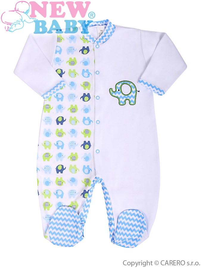 Dojčenský overal New Baby Sloník bielo-modrý