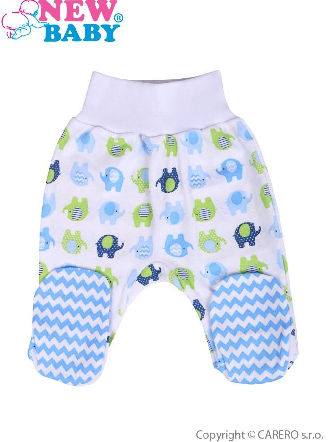 Dojčenské polodupačky New Baby Sloník bielo-modré