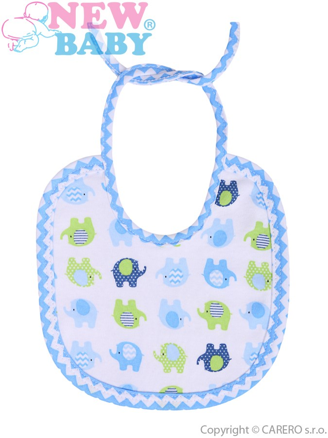 Detský podbradník New Baby Sloník bielo-modrý