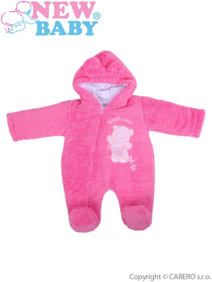 Zimný overal New Baby Maznáčik ružový