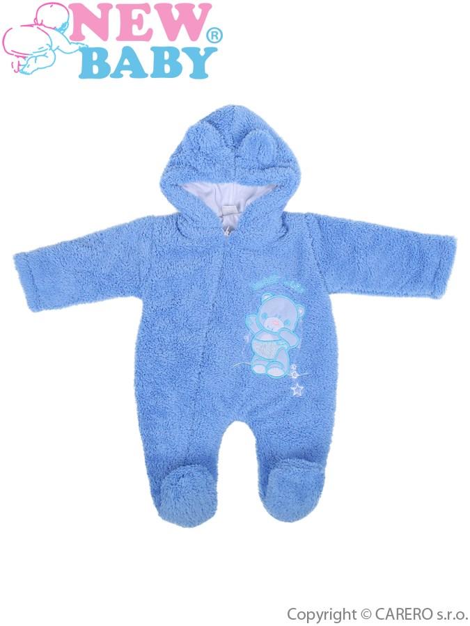 Zimný overálek New Baby Maznáčik modrý