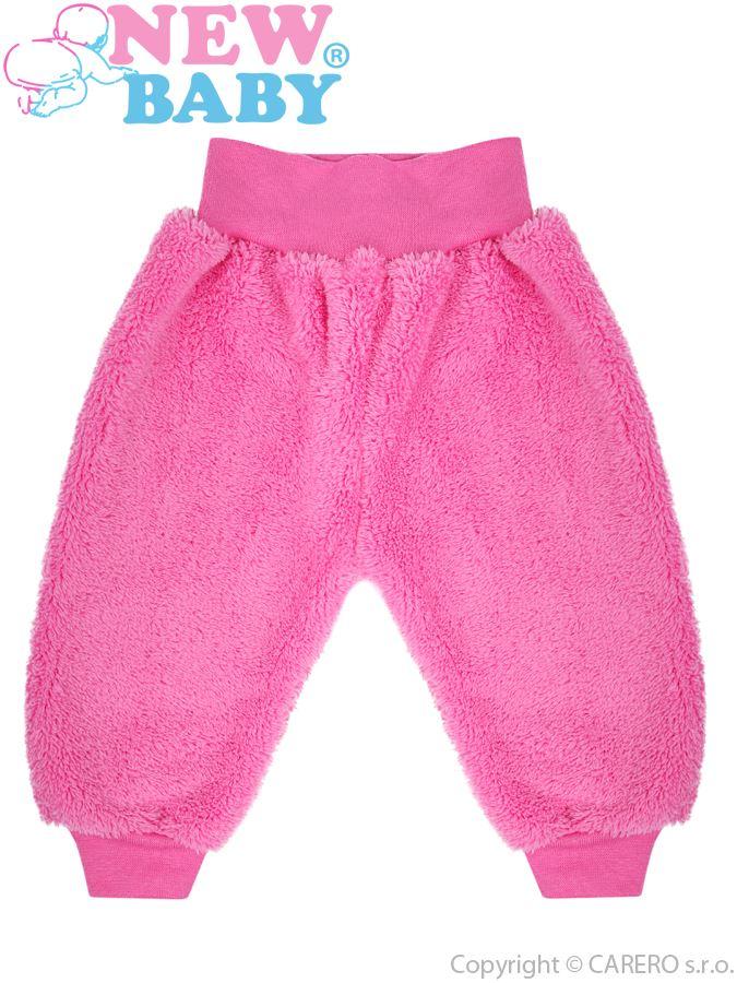 Zimné dojčenské tepláčky New Baby Maznáčik ružové