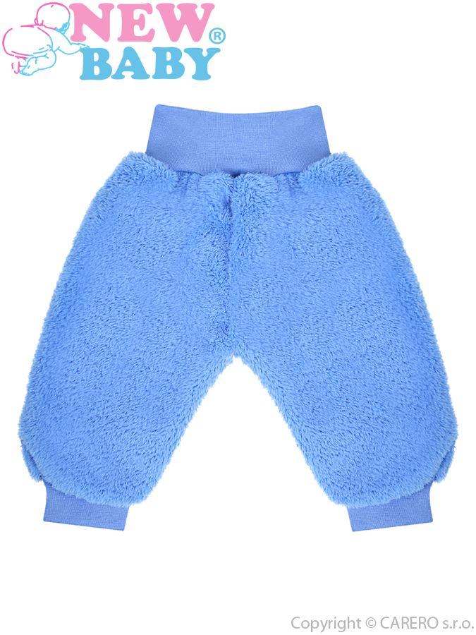 Zimné dojčenské tepláčky New Baby Maznáčik modré