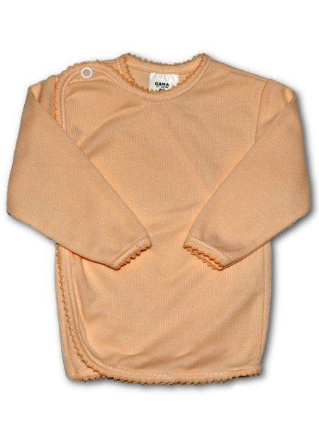 Dojčenská košieľka prúžkovaná New Baby oranžová