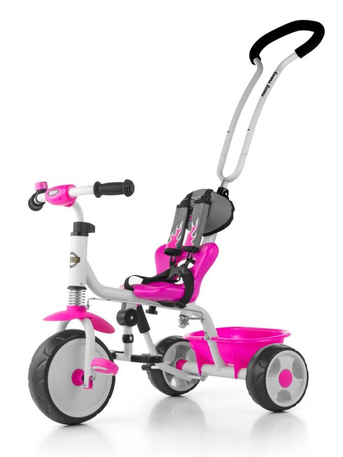 Detská trojkolka so zvončekom Milly Mally Boby 2015 pink