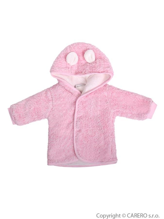 Fleecový kabátik Baby Service Melírek ružový
