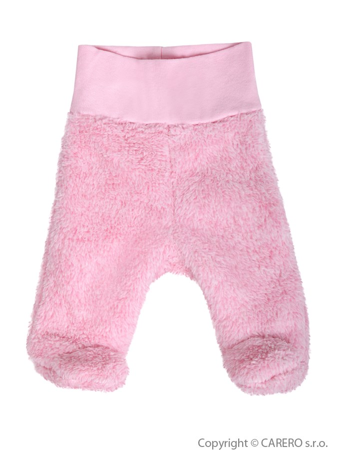 Fleecové polodupačky Baby Service Melírek ružové