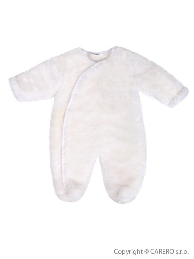 Zimný fleecový overal Baby Service Leďáček biely