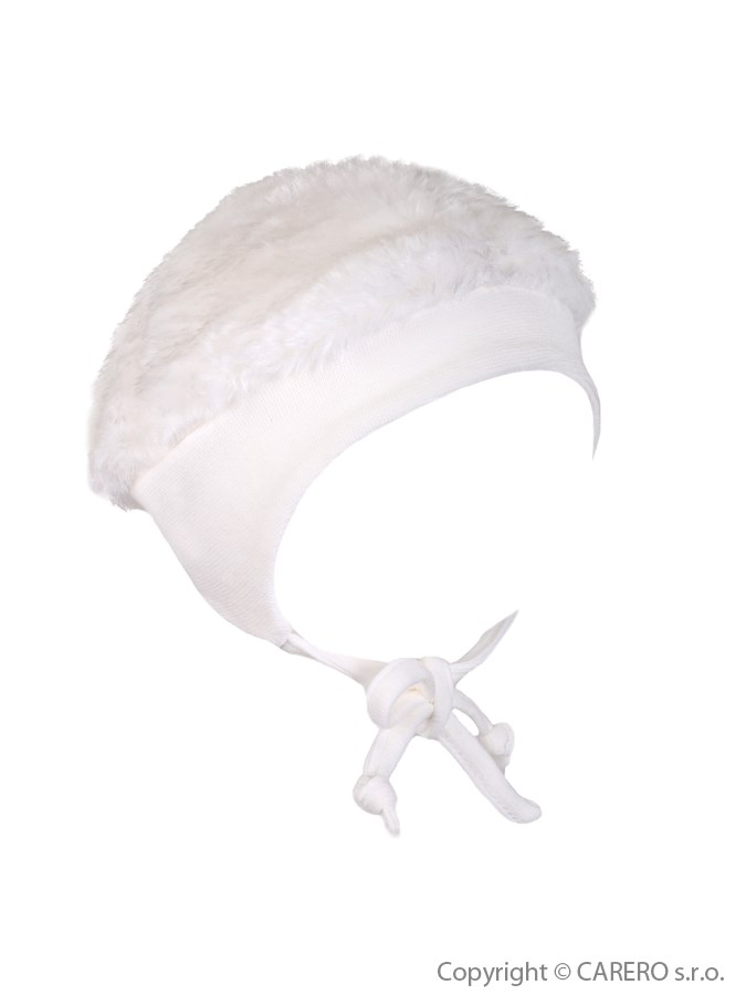 Zimná fleecová čiapočka Baby Service Leďáček biela