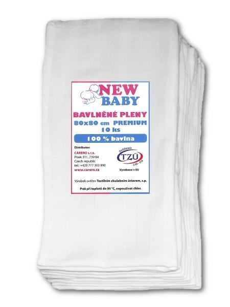 Bavlnené plienky NEW BABY 80x80 cm PREMIUM