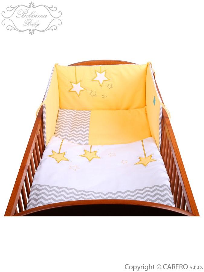 3-dielne posteľné obliečky Belisima Hviezdička 90/120 žlté